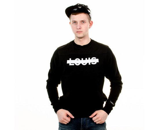 Mikina Cayler & Sons BLLB Victoire Crewneck Black White
