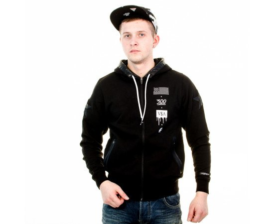 Mikina Cayler & Sons BLLB V$A Zipper-Hoody Black White