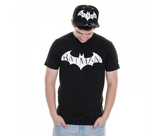 Tričko Starter Batman Arkham Sports Batman Black White