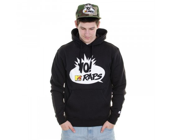 Mikina Starter Sweatshirt MTV Raps Icon Hood Black White