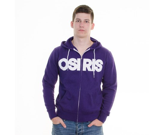 Mikina Osiris Zip Nyc Purple White