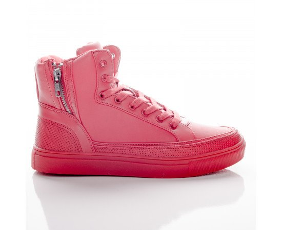 Tenisky Urban Classics Zipper High Top Shoe Fire Red