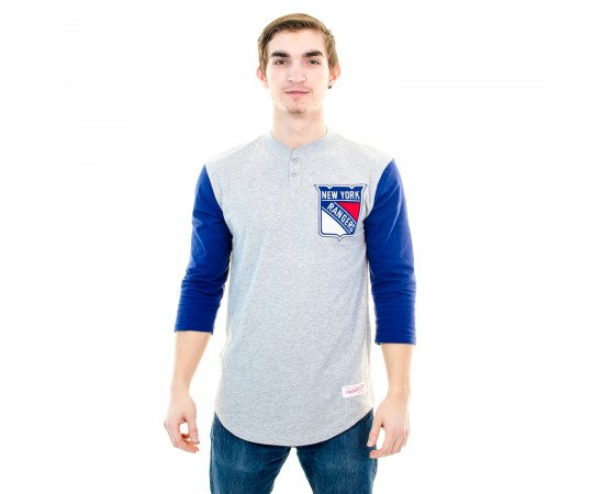 Tričko Mitchell & Ness New York Rangers Grey Blue