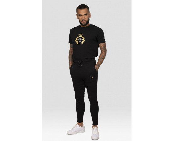 SikSilk x Dani Alves Athlete Track Pants – Black OFS_NS