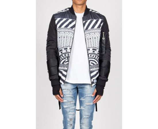 Bombera Sixth June Bomber Jacket Ethnic Black