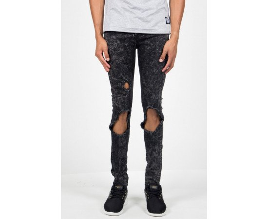 Rifle Sixth June Jean Destroyed Washed Grey
