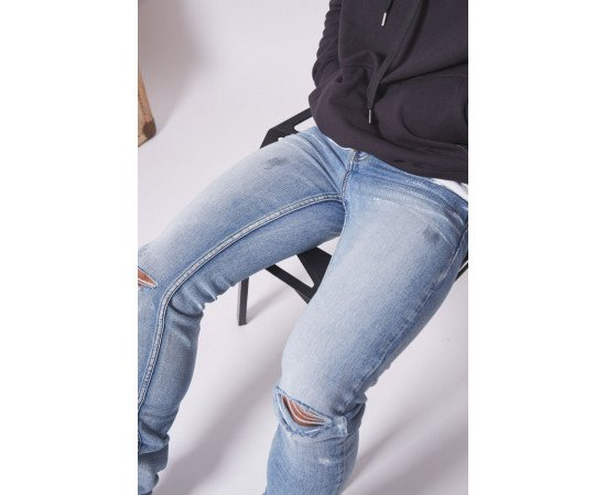 Jeans Sixth June Spotted Ripped Blue