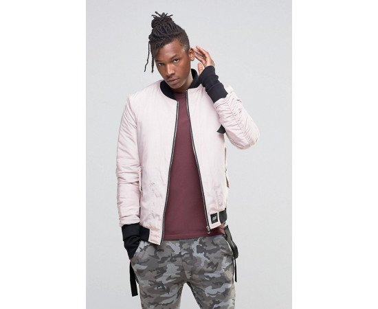 Bombera Sixth June Bomber Jacket Pink