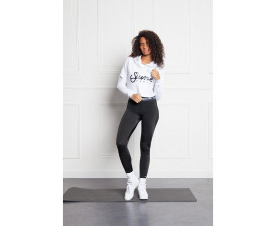 Crop Top Mikina Sixth June Court Logo White