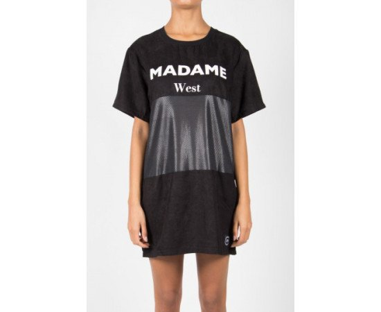 Tričko Sixth June Madame West Oversized Black