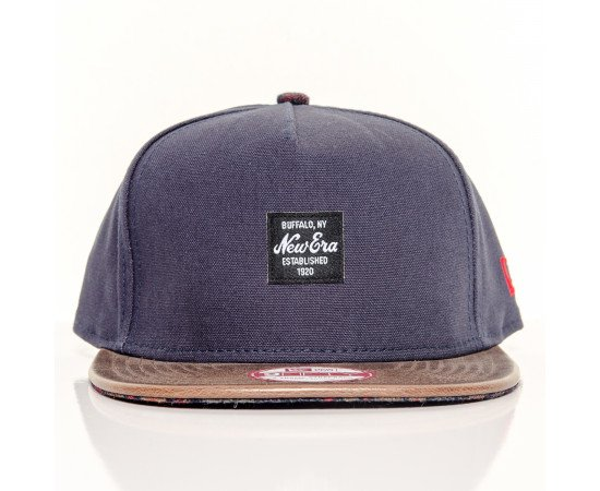 Fitted Cap New Era Buffalo New York Navy Brown
