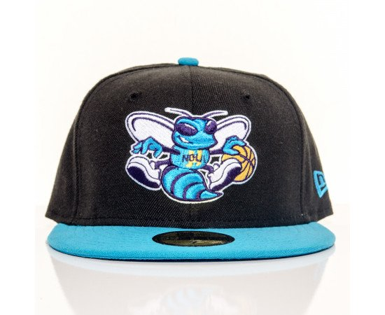 Fitted Cap New Era Charlotte Hornets Black Blue
