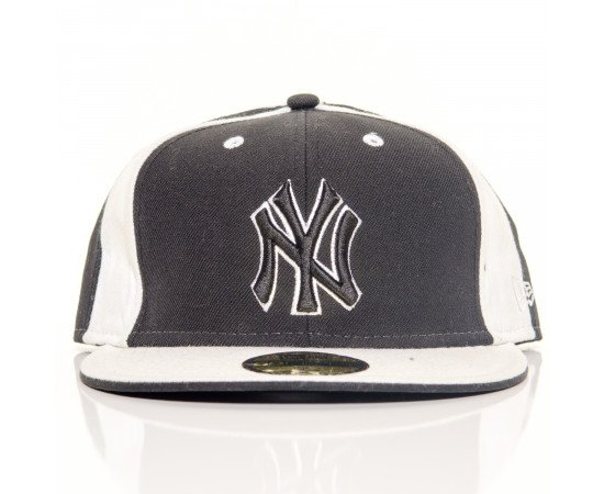 Fitted Cap New Era New York Yankees Black White