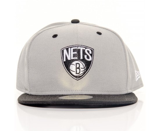 Fitted Cap New Era Brooklyn Nets Grey Black