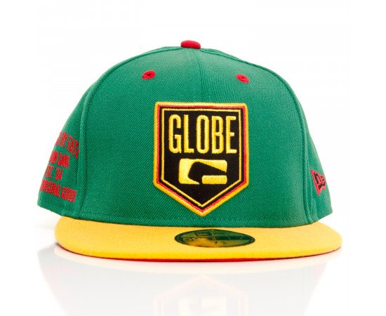 Šiltovka Globe Above New Era (Kenwood) Baseball 59Fifty Fitted Cap Green Yellow