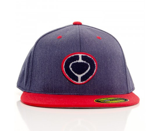 Šiltovka C1Rca Slab Icon 210 Fitted Cap Denim Red