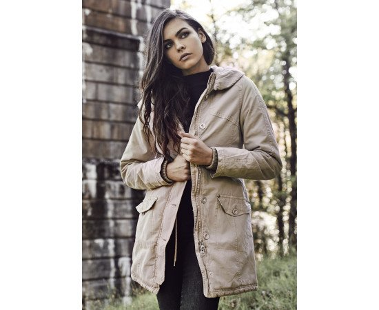 Bunda Urban Classics Garment Washed Long Parka Sand
