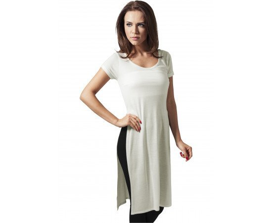 Tričko Urban Classic Ladies Side Slit Viscose Ong Tee Offwhite