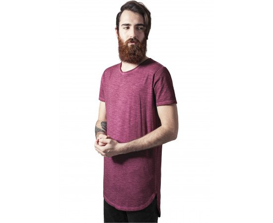 Tričko Urban Classics Long Back Shaped Spray Dye Tee Burgundy
