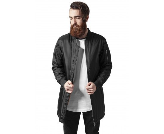 Bunda Urban Classic Long Bomber Jacket Black