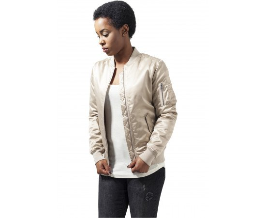 Bombera Urban Classics Ladies Satin Bomber Jacket Gold