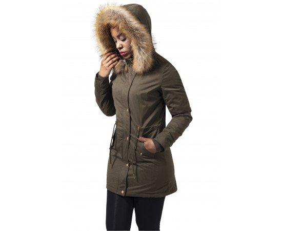 Bunda Urban Classics Sherpa Lined Peached Olive