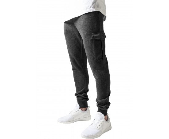 Tepláky Urban Classics Fitted Cargo Sweatpants Charcoal realphotonhs
