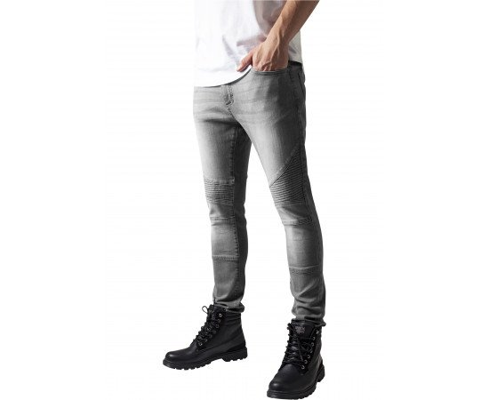 Jeans Urban Classics Slim Fit Biker Grey