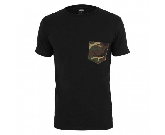 Urban Classics Camo Pocket Tee Black