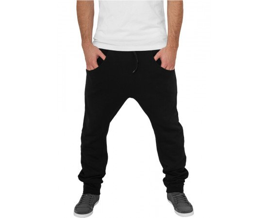 Tepláky Urban Classics Deep Crotch Sweatpant Black