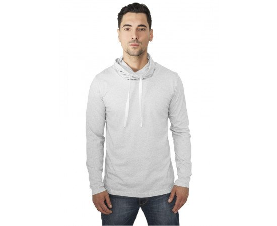 Tričko Urban Classics Melange High Neck Light Grey