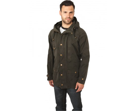 Bunda Urban Classics Light Cotton Parka Darkolive