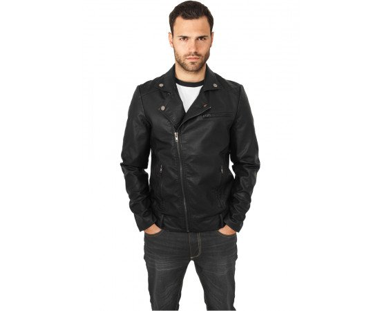 Bunda Urban Classics Biker Jacket Black
