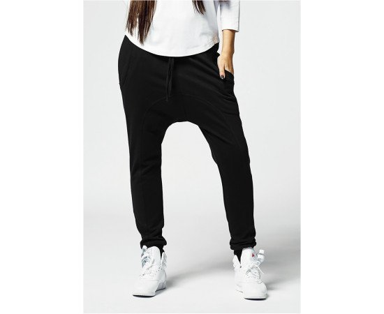 Tepláky Urban Classics Ladies Light Fleece Sarouel Pant Black
