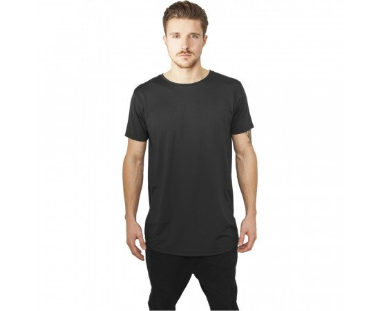 Urban Classics Shaped Neopren Long Tee Black