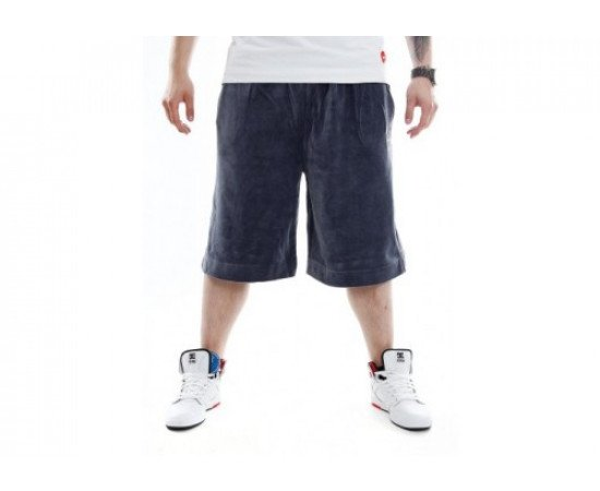 Stoprocent Velur Shorts Tag Grey