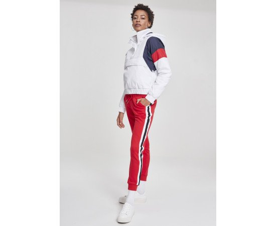 Ladies College Contrast Sweatpants firered/wht/blk
