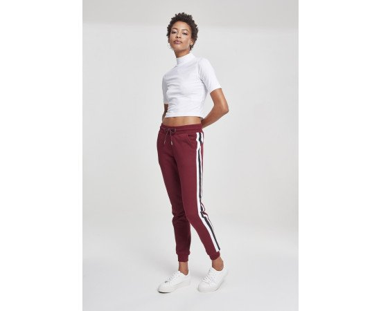 Ladies College Contrast Sweatpants port/white/black