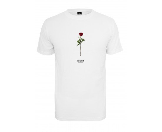 Lost Youth Rose Tee white