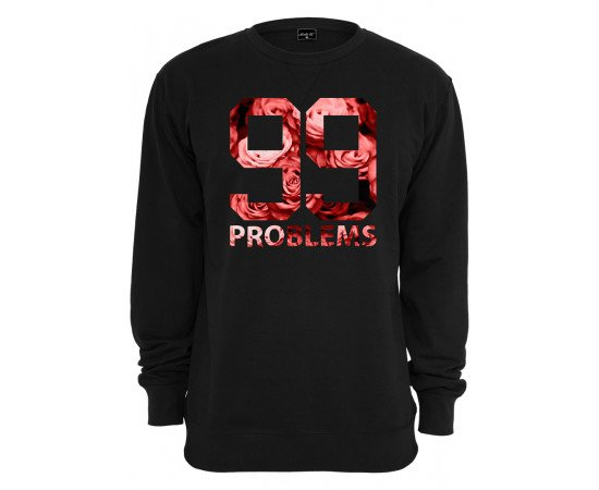 Mikina Urban Classics 99 Problems Roses Black
