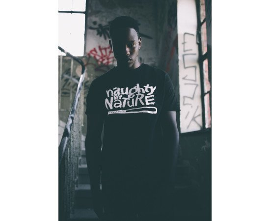 Tričko Mister Tee Naughty By Nature Colour Black