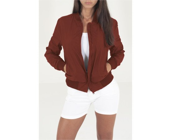 Bunda Urban Classics Ladies Light Bomber Jacket Burgundy