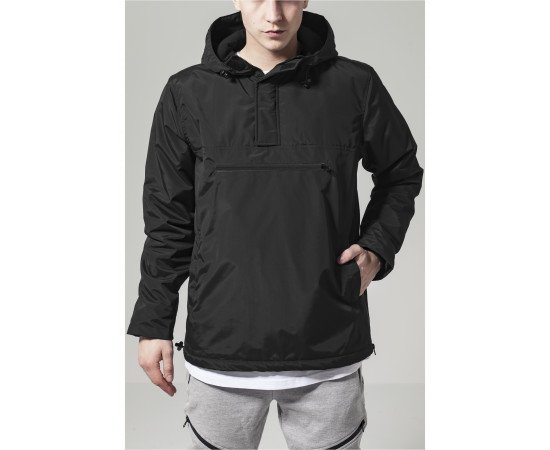 Padded Pull Over Jacket black
