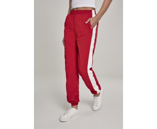 Ladies Striped Crinkle Pants red/wht