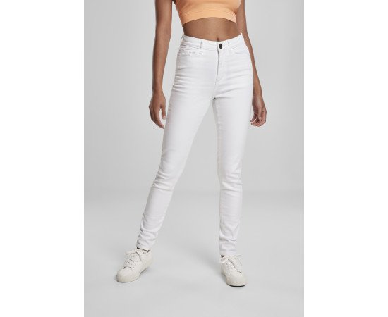 Ladies High Waist Skinny Jeans white