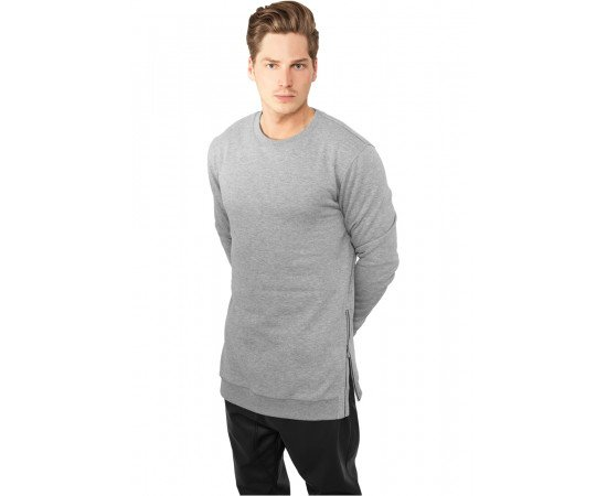 Crewneck Urban Classics Side Zip Crew Grey