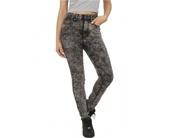 Rifle Urban Classics Ladies High Waist Denim Skinny Pants Black Denim