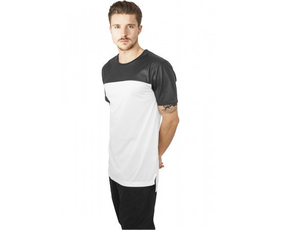 Football Mesh Long Jersey wht/blk