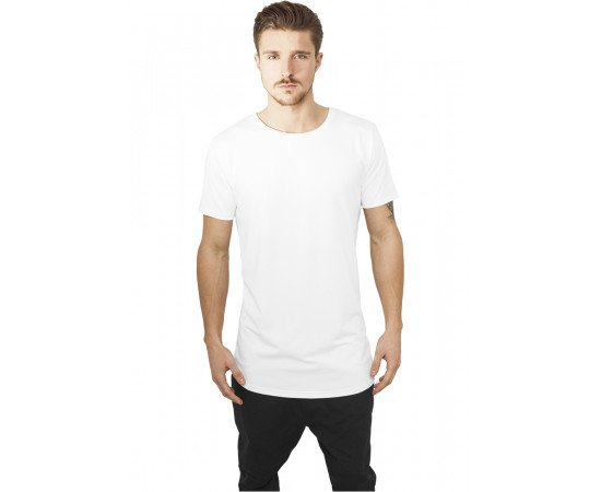 Tričko Urban Classics Shaped Neopren Long Tee White