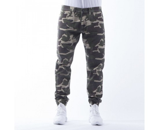 Nohavice Mass Dnm Jogger Woodland Sneaker Fit Camo